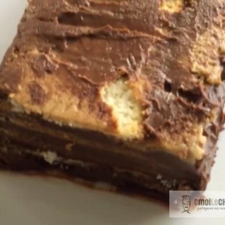 Cake aux petits beurre sans cuisson
