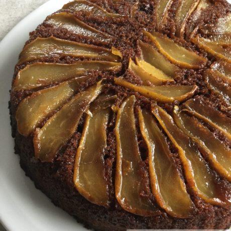Gâteau chocolat poire inversé